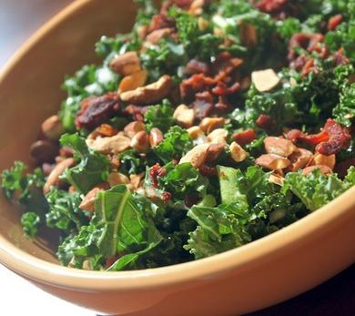 Kale Salad with Bacon and Almonds