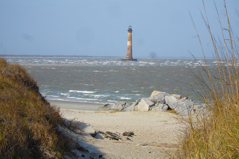 South Carolina: Morris Island Lighthouse (Folly Beach)