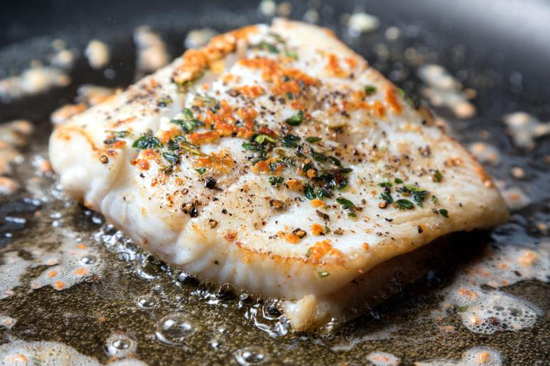 Pan-Seared Alaska Halibut With Red Curry and Basmati Rice