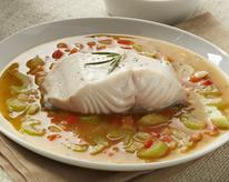 Olive Oil-Poached Alaska Black Cod With Herb Broth