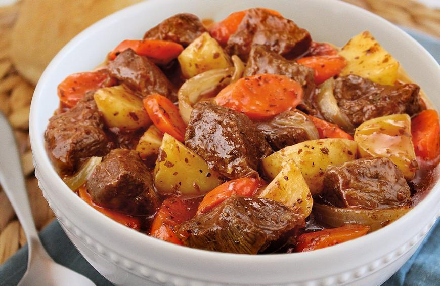 Slow Cooker Beef Stew With Herbs Onions Recipe By Noah Mcgee