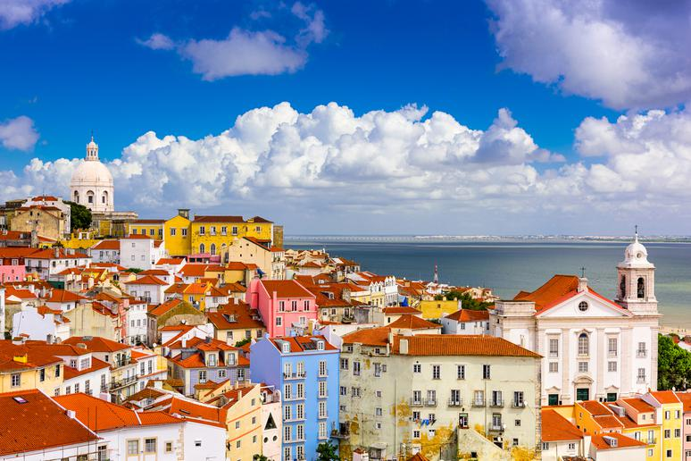 District of Alfama in Lisbon, Portugal