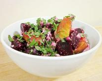 Baby Beets with Orange Blossom Water, Feta, and Mint