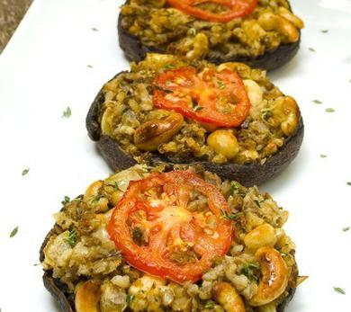 Harvest-Stuffed Portobello Mushrooms