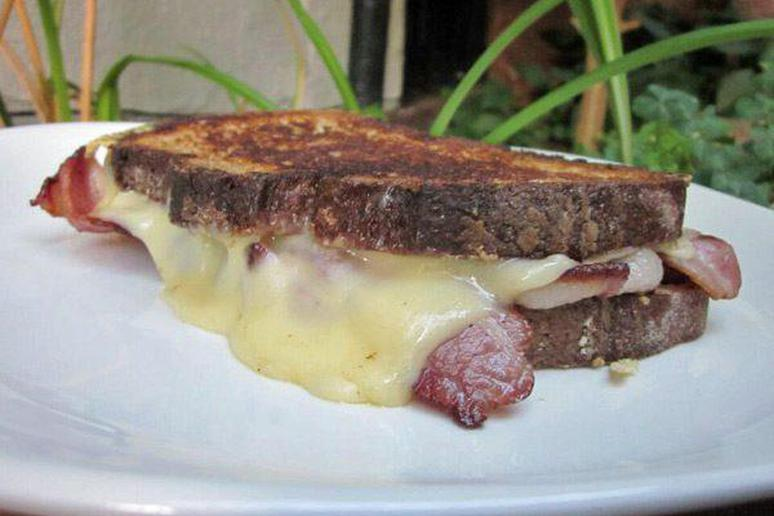 Bacon and Jarlsberg Grilled Cheese Sandwich