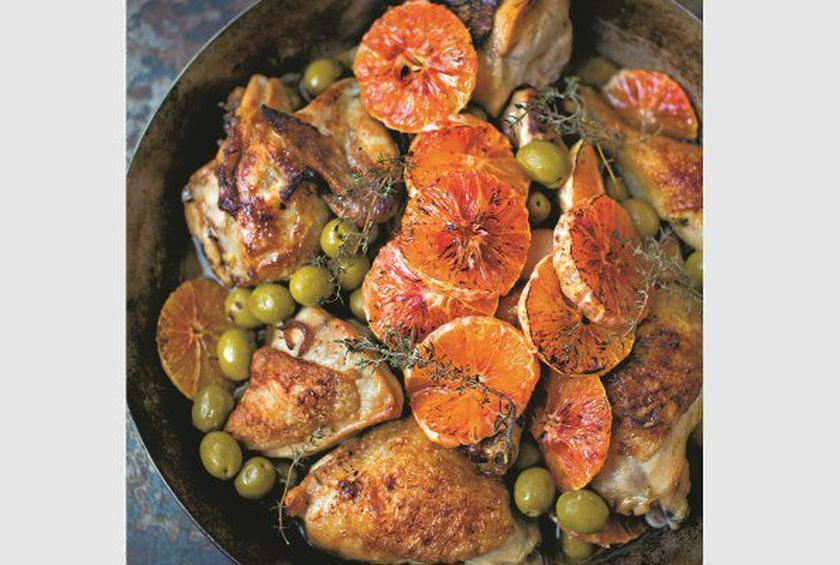 Chicken with Marsala, Olives, and Blood Oranges