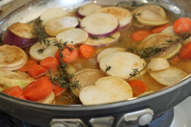 Braised Turnips and Carrots