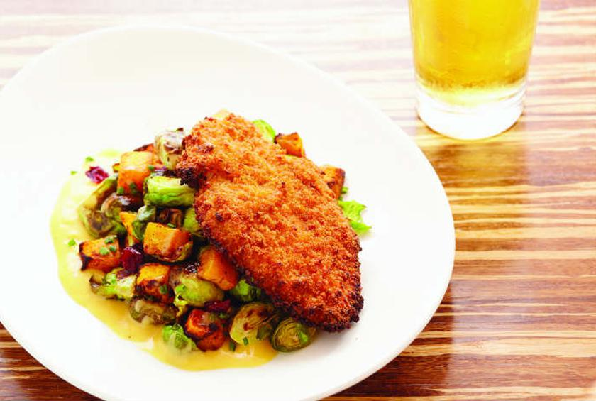 Art Smith\'s Unfried Chicken with Roasted Brussels Sprouts Recipe by ...