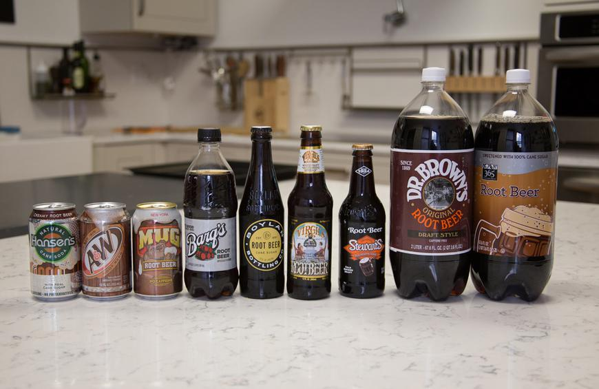 The Root Beer Lineup from The Best Root Beers for Making Root Beer