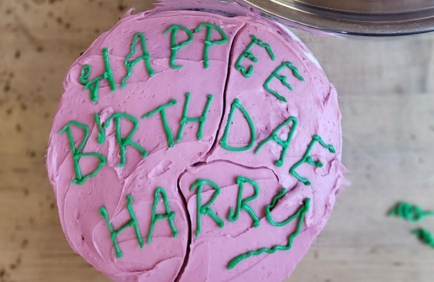 Incredible How To Make The Birthday Cake Hagrid Gave To Harry Potter Personalised Birthday Cards Paralily Jamesorg