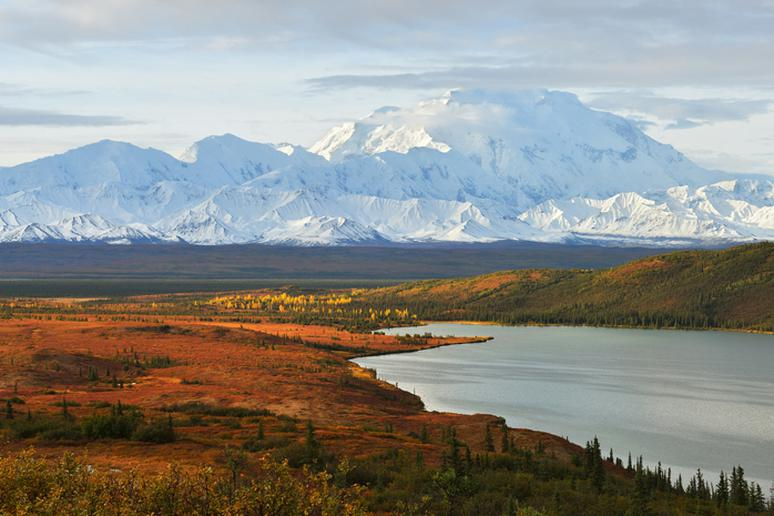 Denali Mountain and Wonder Lake, Alaska