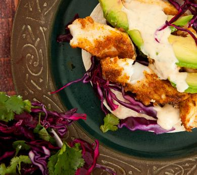 Grilled Fish Tacos With Lime Cabbage Slaw