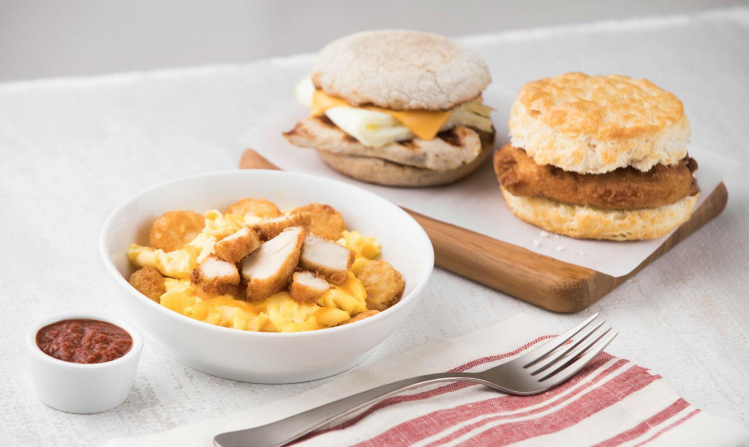 what's on the chick-fil-a breakfast menu?