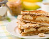 Healthy Grilled Peanut Butter and Banana Sandwich