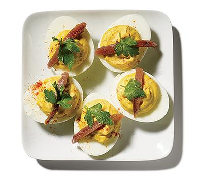 Deviled Eggs with Anchovy
