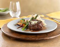 Roasted Bison Filet Mignon with Pan Gravy & Smashed Potatoes