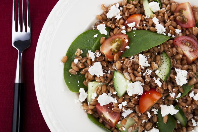 Heirloom Tomato and Avocado Wheat Berry Salad