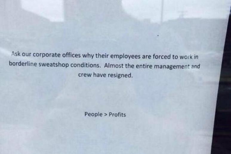 Chipotle Location Loses Nearly Entire Staff for 'Sweatshop  Conditions'