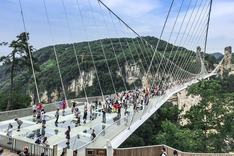Zhangjiajie Grand Canyon Glass Bridge, China