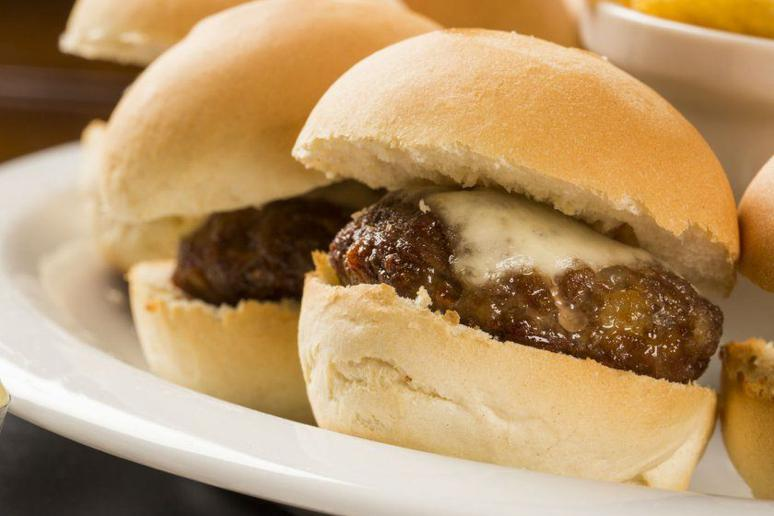 Bacon and Blue Cheese Sliders