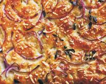 Focaccia with Red Onion, Asiago, and Thyme