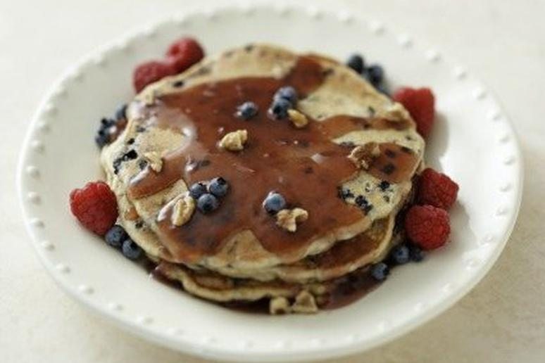 Berry Delicious and Easy Wheat Germ Pancakes