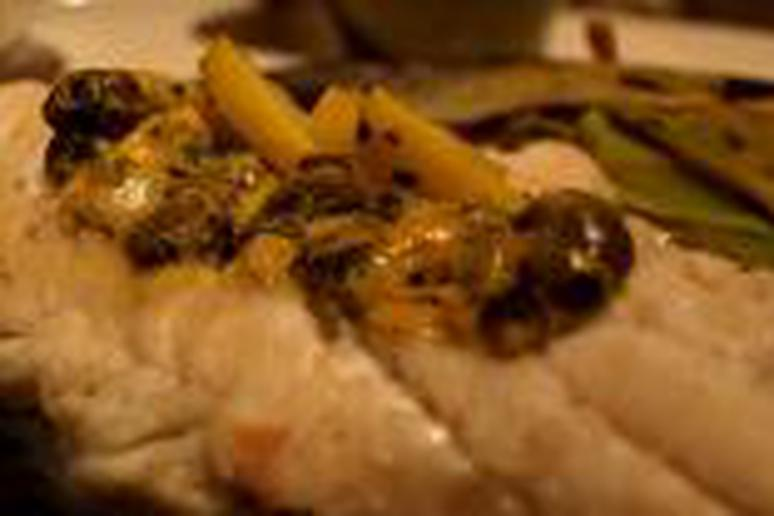 White Fish with Lemon, Capers, Mustard, and Parsley Recipe