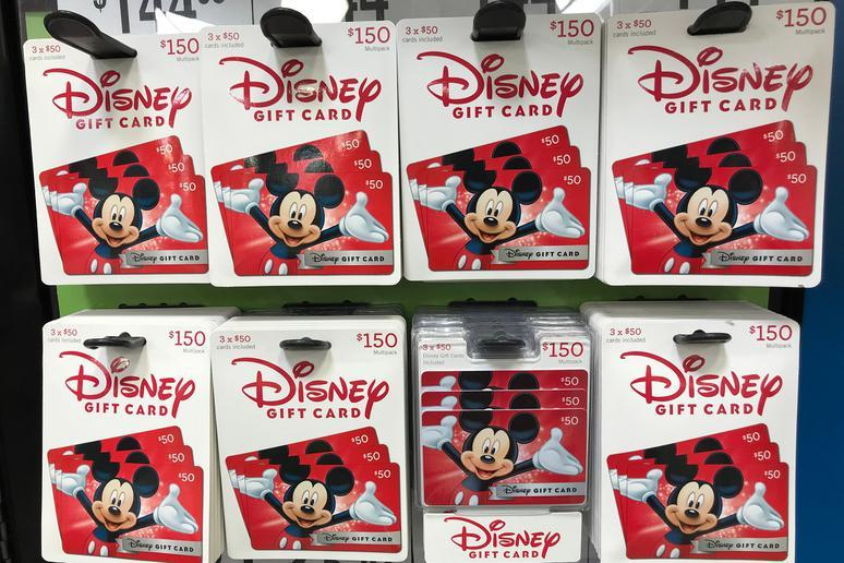 Budget with Disney gift cards
