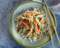 Lemon Wild Alaska Crab Over Rice