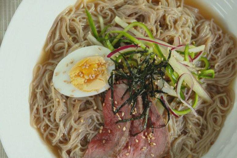 Naeng myeon ice cold noodles recipe by judy joo naeng myeon ice cold noodles cooking channels korean food made simple forumfinder Image collections