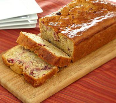 Cranberry Orange Quick Bread with Wheat Germ