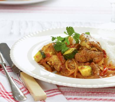 Peppered Chicken with Tomatoes and Zucchini