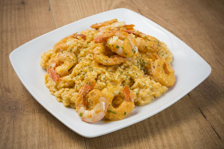 Pumpkin and Shrimp Risotto