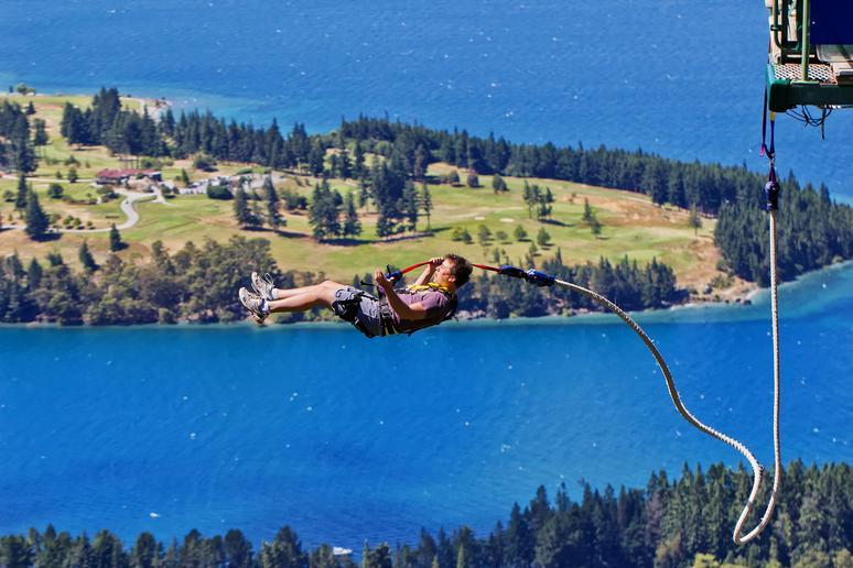 Go bungee jumping in New Zealand