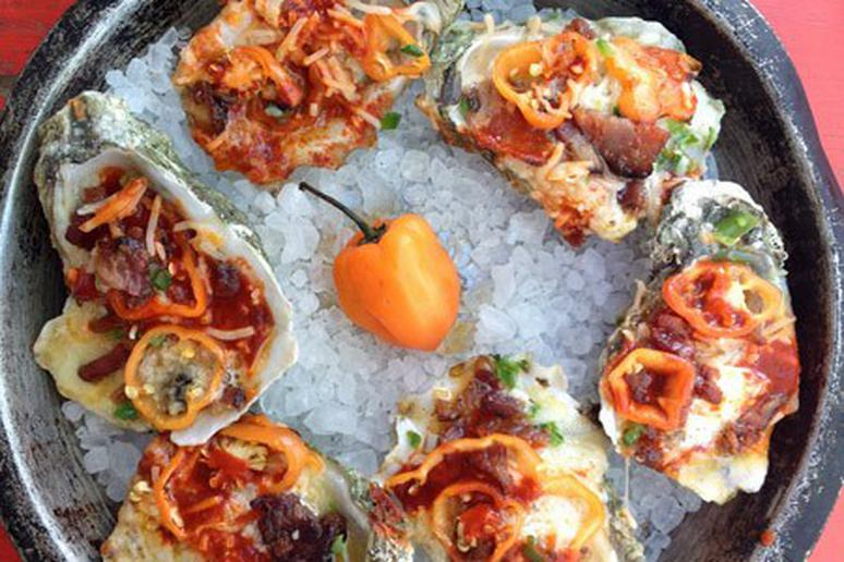 Grilled Diablo Oysters