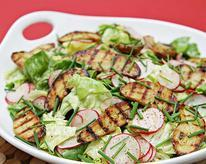 Boston Lettuce and Radish Salad with Grilled Fingerling Potatoes