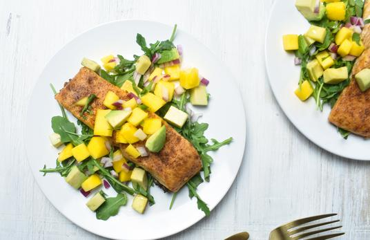 Ayesha Curry's Spiced Salmon Mango Avocado Salad