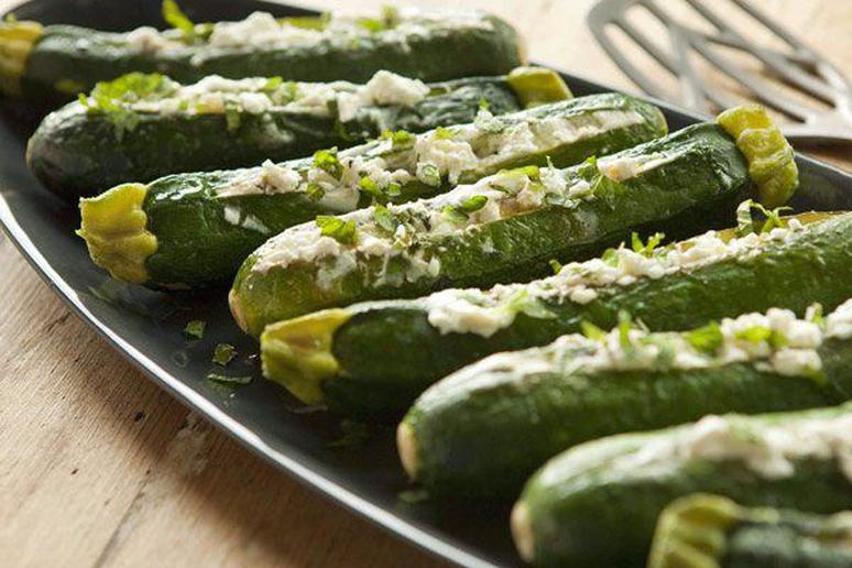 Baked Zucchini with Goat Cheese