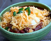 Bison and Black Bean Chili