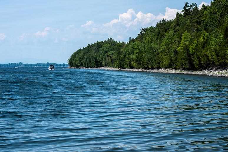 Fishing in Lake Champlain, Vermont