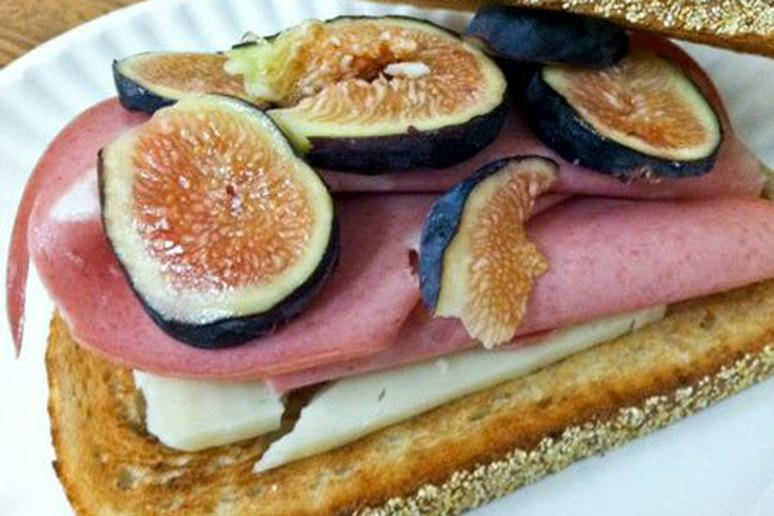 Mortadella and Fig Sandwich with Asiago