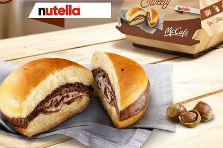 Sweety con Nutella McDonald's Italy Nutella burger