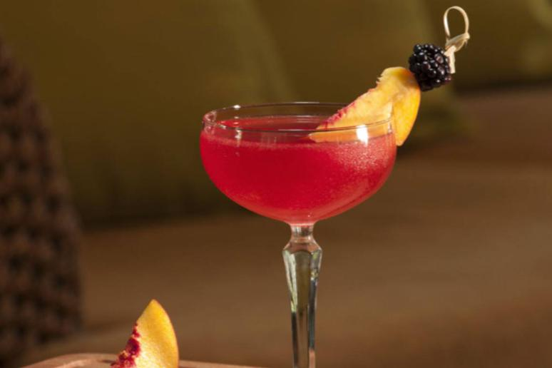 Bewitching Berry Halloween Cocktail