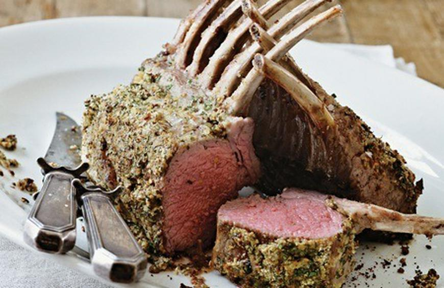 Herb Mustard Coated Lamb Rack Recipe By James Tanner