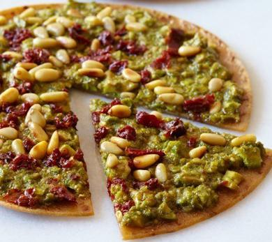 Pesto Tortilla Pizza