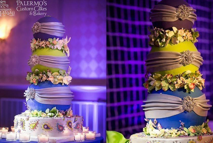 Wedding Cake Of The Day Bollywood Tiered Wedding Cake