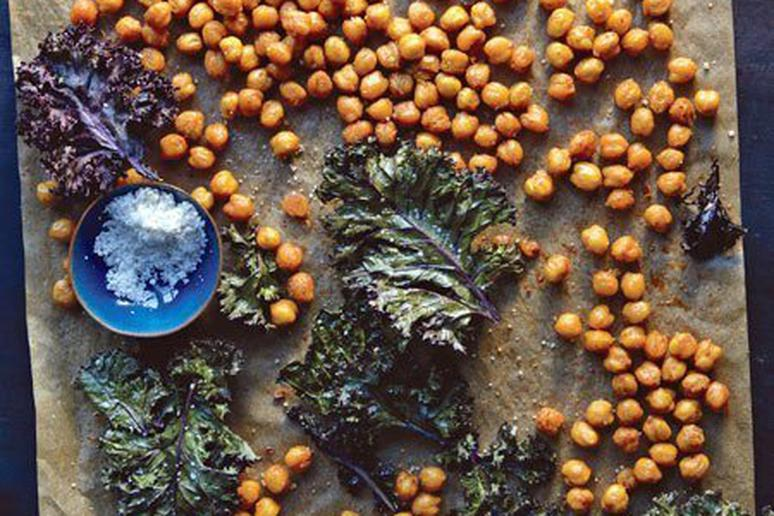 Crispy Chickpeas and Kale Chips