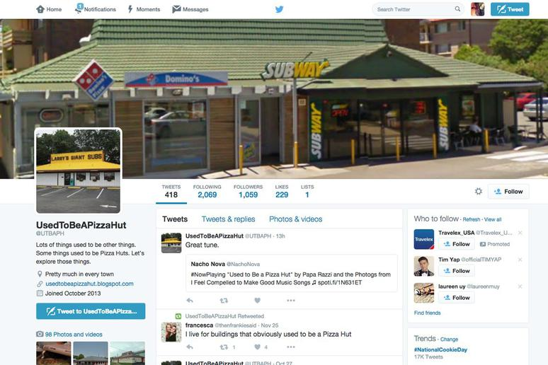 There's a Twitter Account Devoted to Former Pizza Hut Locations