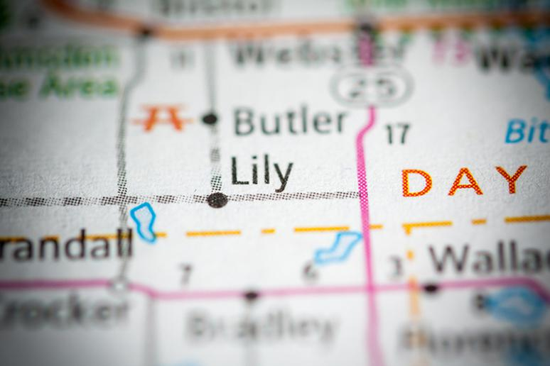Lily town, South Dakota