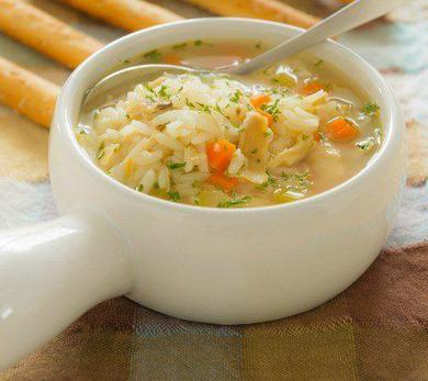 Slow Cooker Lemon Chicken and Rice Soup